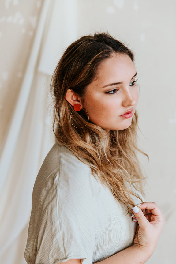 Zoe Circle Hoop Earrings