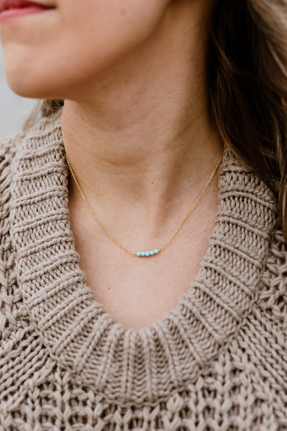 Dainty Beaded Necklace 03