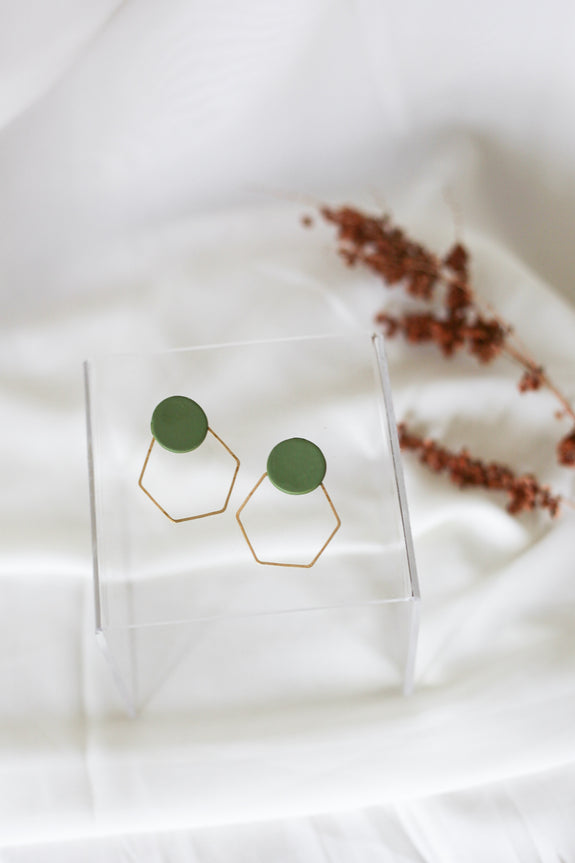 Zoe Hexagon Hoop Earrings