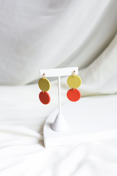 Lora in Citron & Orange Earrings