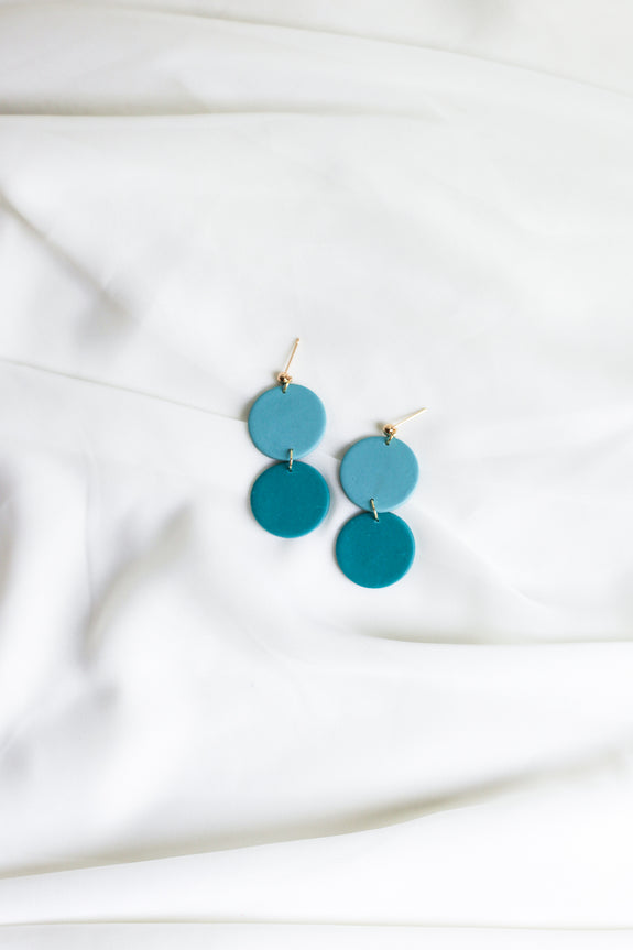 Lora in Seafoam & Teal Earrings