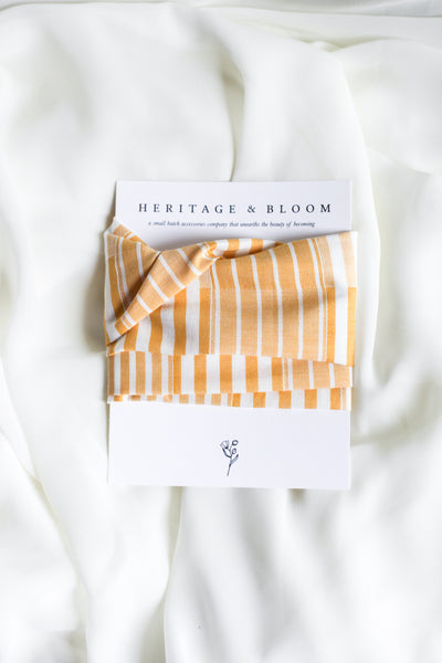 Yellow and White Lines Headwrap