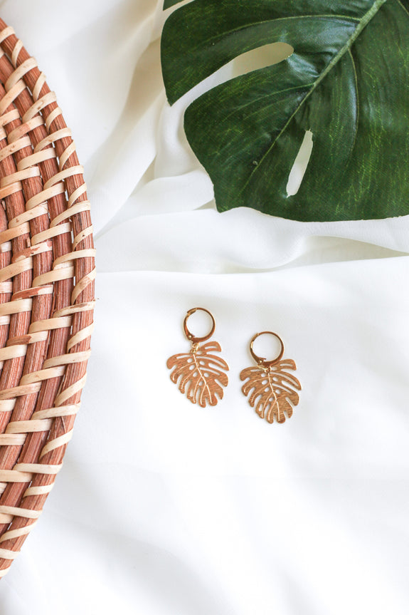 Monstera Leaves Earrings