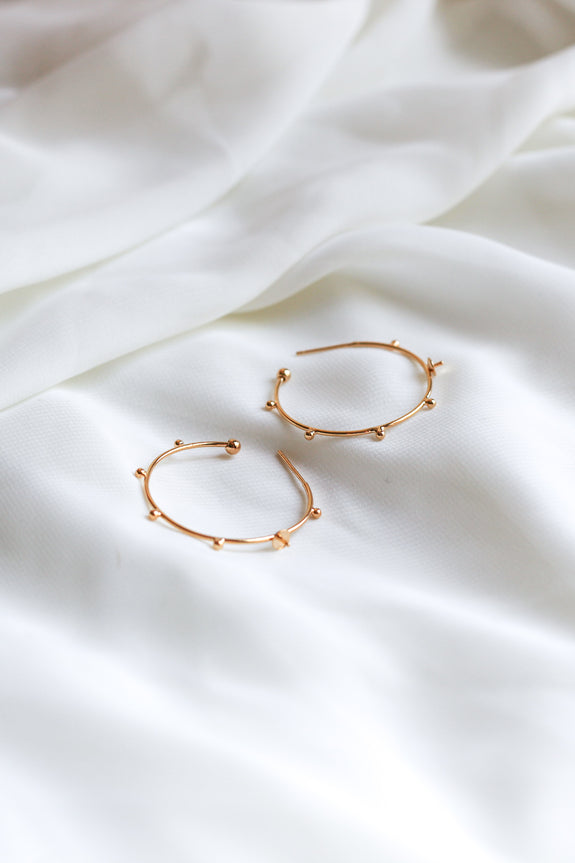 Ava Studded Hoop Earrings