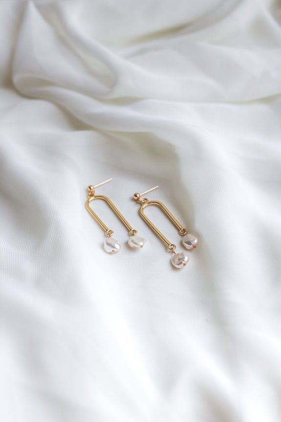 Freshwater Pearl Mobile Earrings