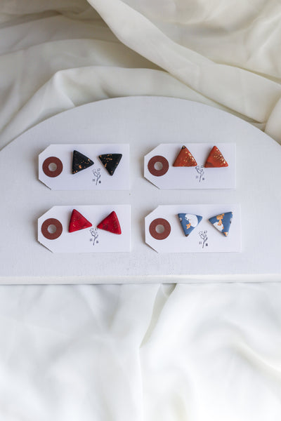 Triangle Clay Studs - Choose Your Style!