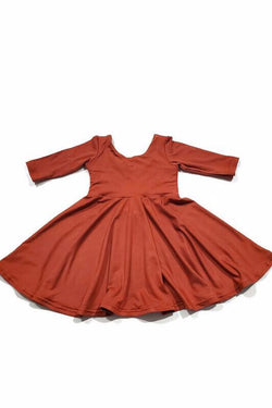 Bamboo Twirl Dress - Pumpkin Spice