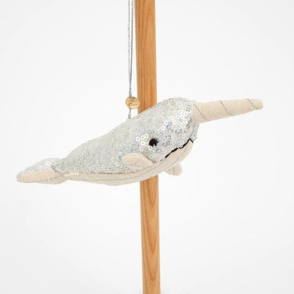 Sequin Narwhal Tree Decoration