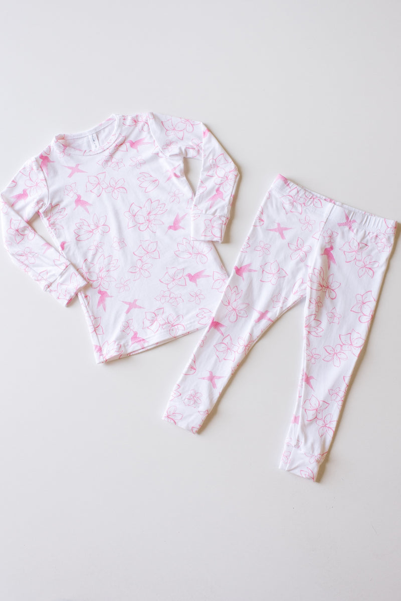 Classic Thermal  Pyjama- Pink Hummingbird