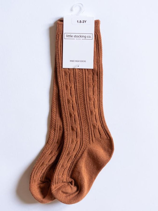 Sugar Almond Knee High Socks