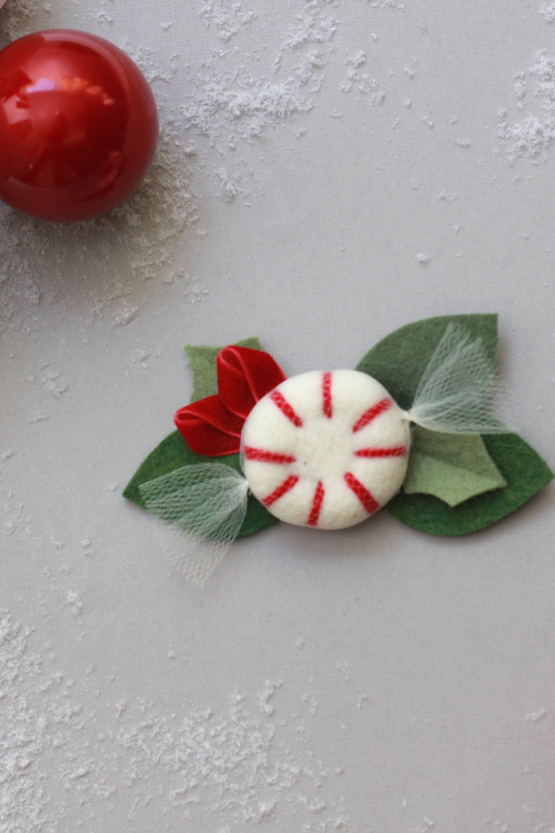 Peppermint Crown Clip