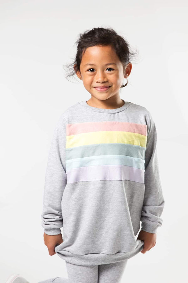 Rainbow Chest Sweatshirt