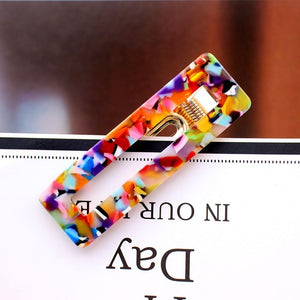 Acrylic Hollow Water drop Rectangle Hair Clips