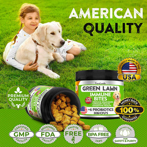 Green Lawn Immune Bites - Treats For Dogs  With Apple Cider Vinegar, Dl-methione, Cranberry Extract