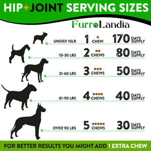 Hip & Joint Treats For Dogs  With Glucosamine, Chondroitin and Turmeric