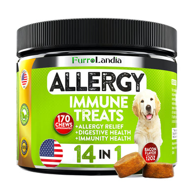 Allergy Immune Treats For Dogs - 14-in-1