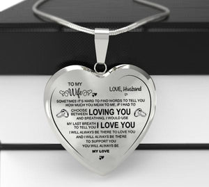 """To My Wife""Heart Necklace"
