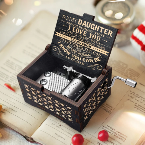 Dad To Daughter - Never Forget That I Love You - Black Music Box