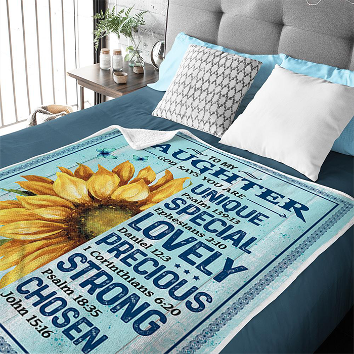 50% OFF Best Gift - To My Daughter - God Says You Are Unique - Blanket