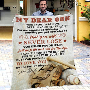 50% OFF Best Gift-Dad To Son - Aim For The Skies - Blanket