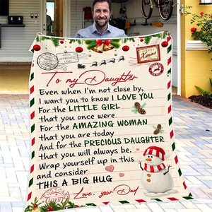 50% OFF Best Gift-Dad To Daughter, Love Dad - Blanket