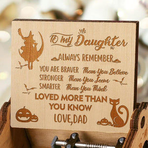 Dad To Daughter - Happy Halloween- Engraved Music Box