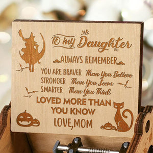Mom To Daughter - Happy Halloween- Engraved Music Box