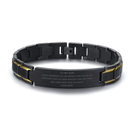 Mom To Son - Braver, Stronger, Smarter - Bracelets