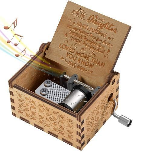Mom To Daughter ( Braver, Stronger, Smarter  ) Engraved Music Box