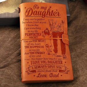 Dad To Daughter  - YOU ARE THE BEAT OF MY HEART - Vintage Journal