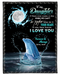 Special gift for your daughter- Chad Sherpa Fleece Blanket