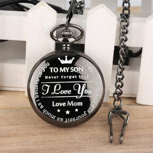To My Son, Love Mom - Luxury pocket watch