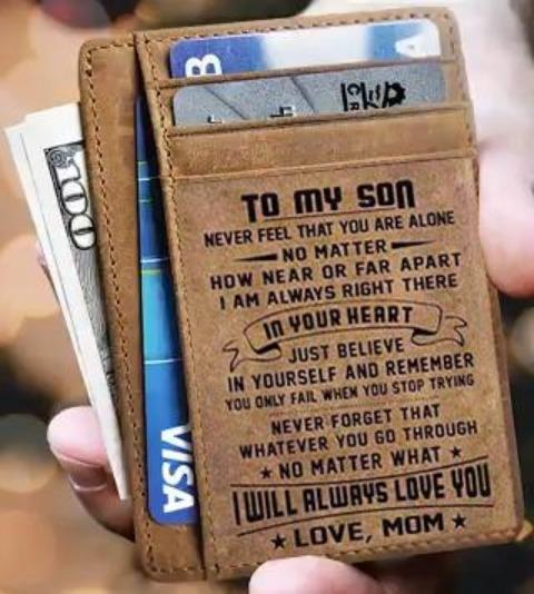 Card Wallet - Son, Mom Will Always Love You
