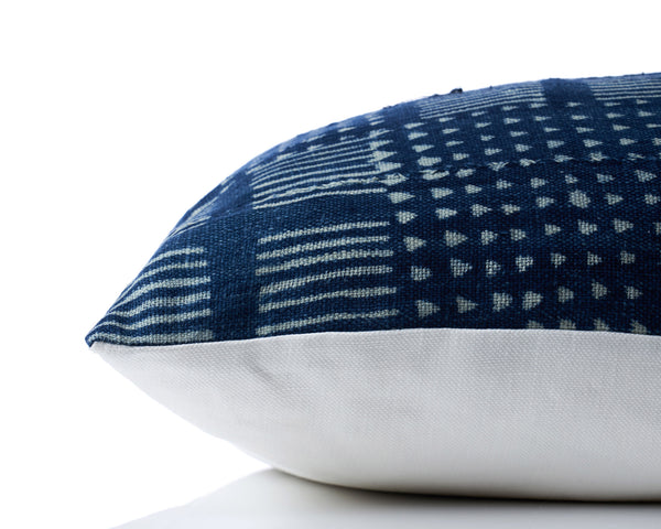 Indigo African Vintage Pillow by Shop Marissa Cramer