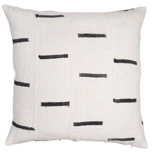 Mudcloth Lines African Vintage Pillow by Shop Marissa Cramer