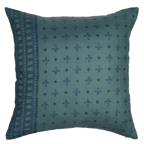 Bixby Border Hand Printed Linen Pillow by Shop Marissa Cramer