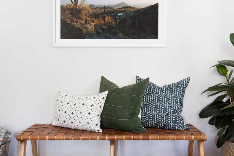 Greenly Linen Stripe Pillow by Shop Marissa Cramer