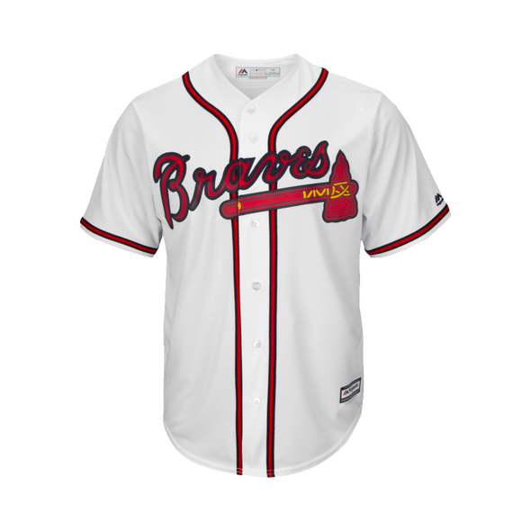 Youth Braves Majestic White Replica Player Jersey