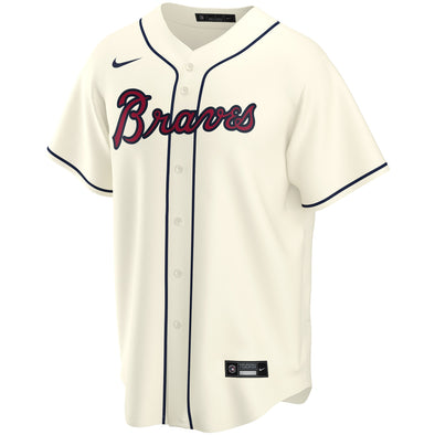 Braves Nike Alternate Replica Team Jersey - Cream
