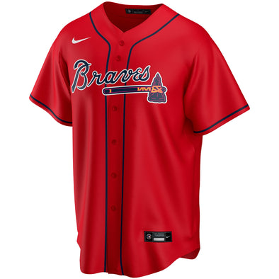 Braves Nike Alternate Replica Team Jersey - Red