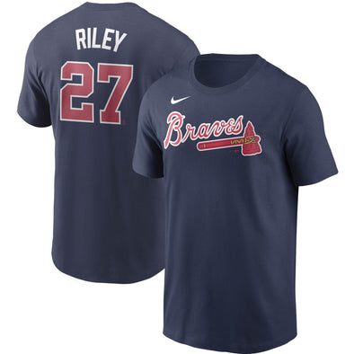 Austin Riley Nike Navy Name & Number Player Tee
