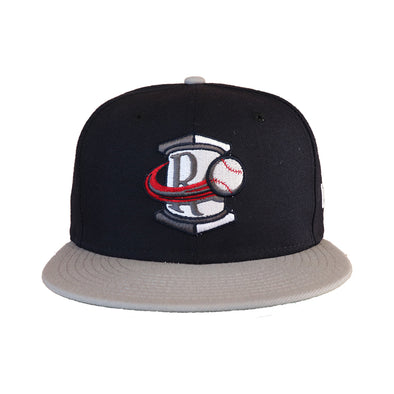 Rome Braves  5950 Navy and Gray On Field Road Cap