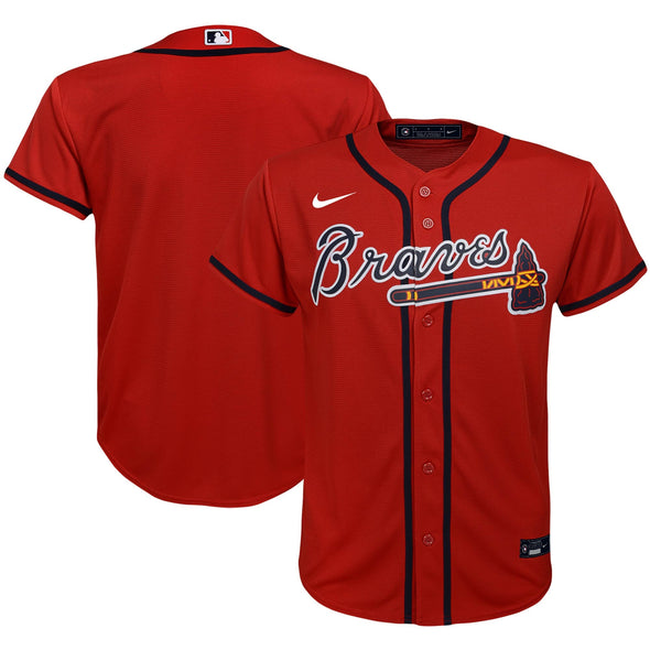 Youth Braves Nike Jersey - Red