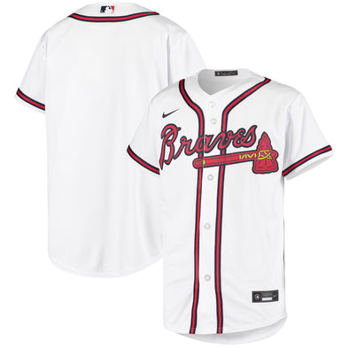 Youth Braves Nike Jersey - White