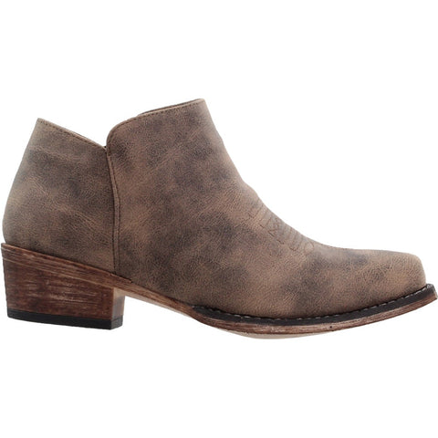 Short Brown Fashion Boot with Snip Toe