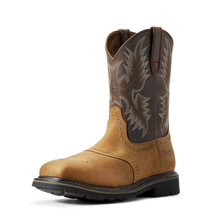 Mens Ariat Sierra Wide Square Toe Boot with Steel Toe