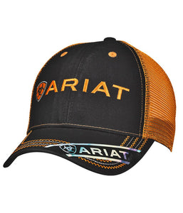 Black and Orange Ariat Cap