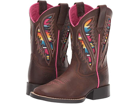 Little Girls Ariat Quickdraw VentTek Boot with Serape Inlay