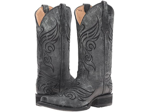 Ld Black Crackle Boot