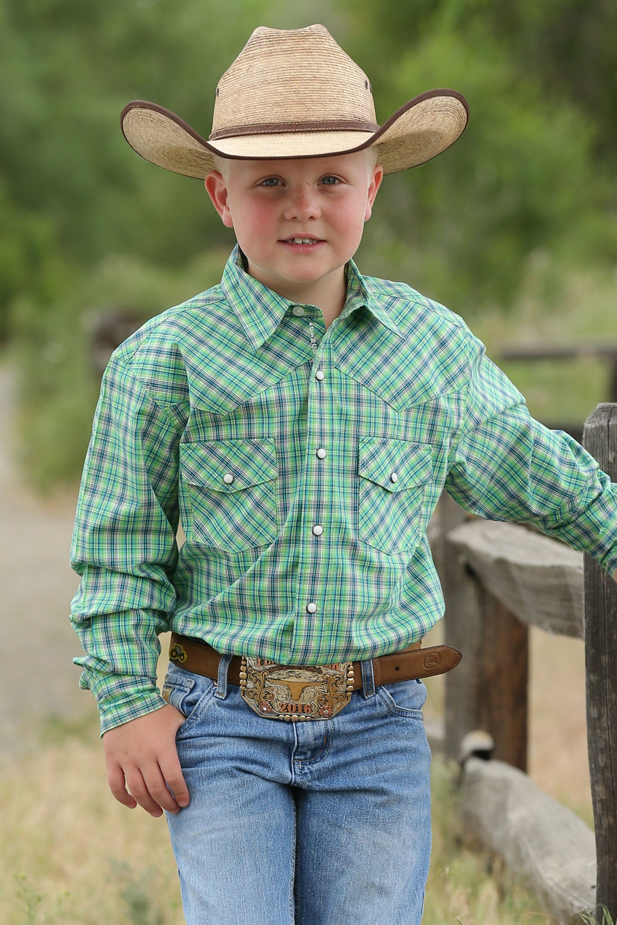 Boys Cinch Long Sleeve Snap